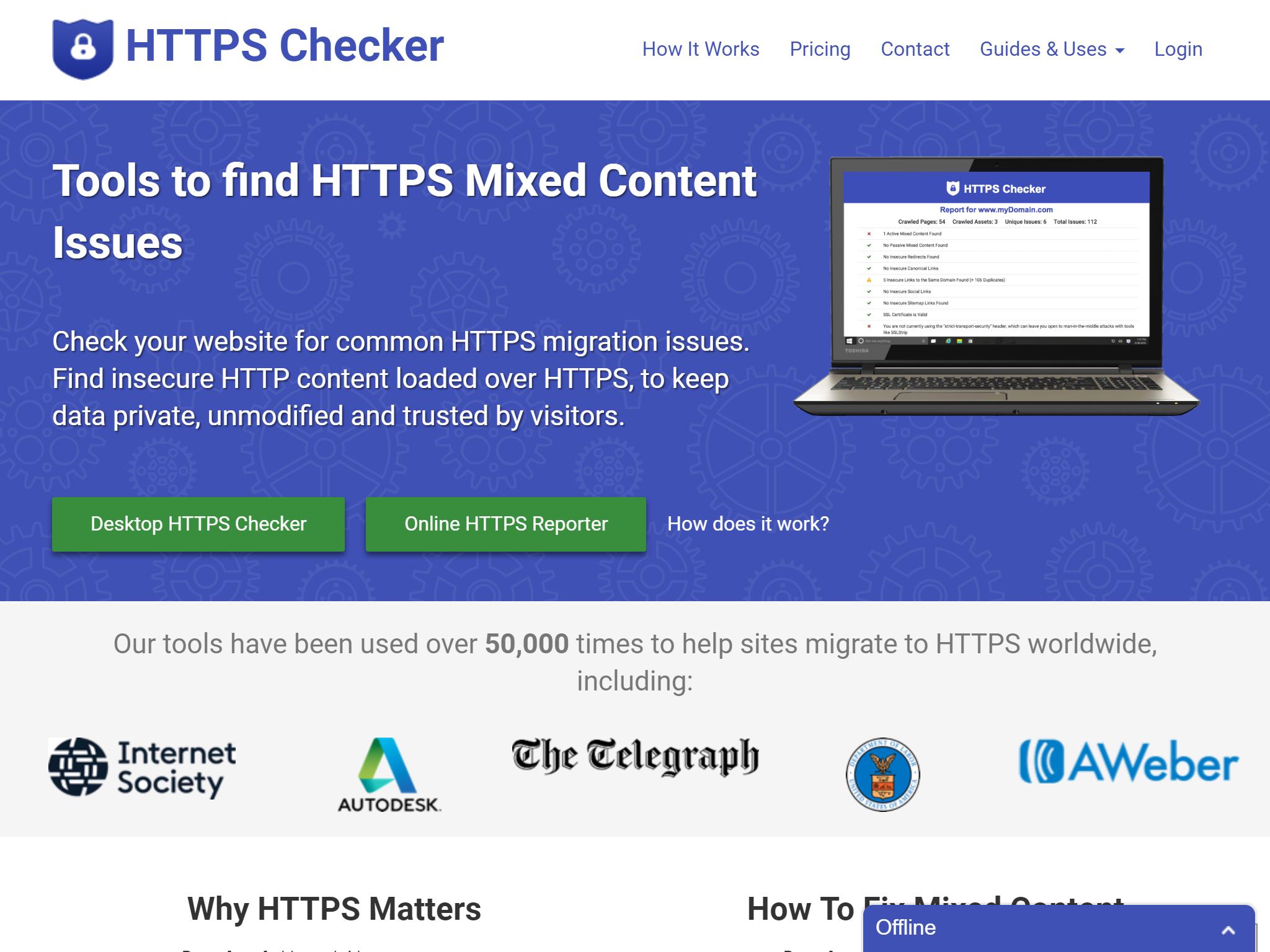 SSL(https)の混在コンテンツ(Mixed Content)を確認してくれるツール